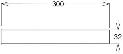 Патрубок GHIDINI DN32 x 300 мм с бортом хром (844)