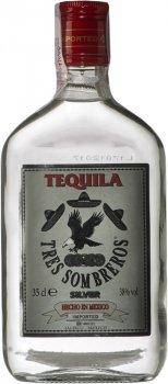 Текила Tres Sombreros Silver 38% 0.35 л (8414771850634)