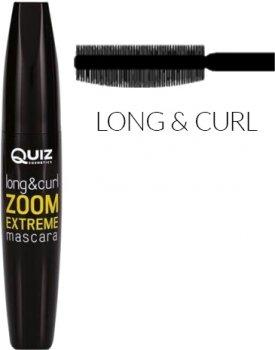 Тушь для ресниц Quiz Zoom Extreme mascara Экстра длина black 12 мл (5906439013558)