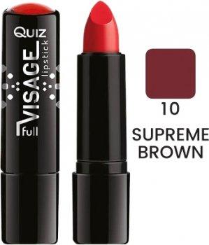Помада Quiz Visage lipstick with Vitamin E Поживна 10 Supreme Brown 4.2 г (5906439013824)