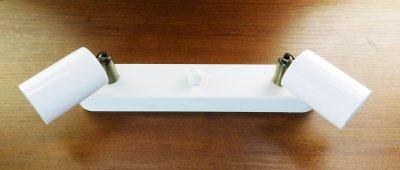 """Світильник настінний Electropark, спот поворотний """"SLEEVE-2W"""" на дві лампи, білий колір (LS-000053)"""
