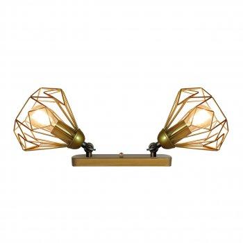 Світильник настінний Electropark, бра поворотне, стельова лампа SKRAB/LS-2 золото (LS-0000471)