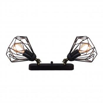 Світильник настінний Electropark, бра поворотне, стельова лампа SKRAB/LS-2 чорний (LS-0000468)