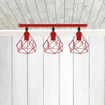 Світильник настінний Electropark, бра поворотне, стельова лампа RUBY/LS-3 червоний (LS-0000479)