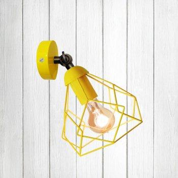 """Світильник настінний Electropark, бра поворотне, стельова лампа """"RUBY/LS"""" жовтий (LS-0000456)"""