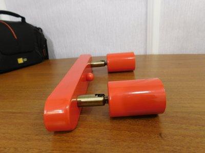 Світильник настінний Electropark, спот поворотний, стельова лампа, на дві лампи, червоний колір (LS-000052)