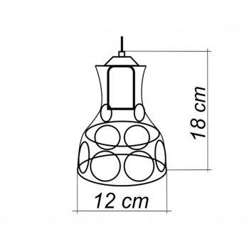 """Світильник настінний Electropark, бра поворотне, стельова лампа """"RINGS/LS"""" білий (LS-0000461)"""