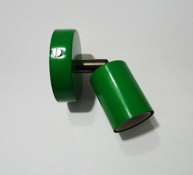 Світильник настінний Electropark, спот поворотний, стельова лампа, на одну лампу, зелений колір (LS-000120)