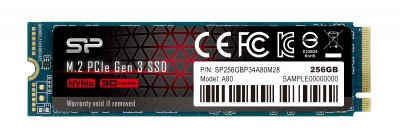 Silicon Power P34A80 256GB M.2 2280 PCIe 3.0 x4 NAND TLC (SP256GBP34A80M28)