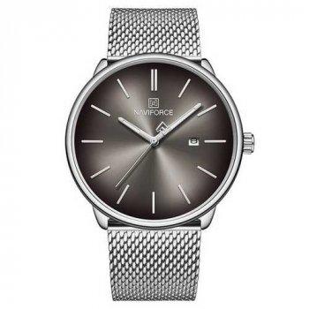 Наручний годинник AlexMosh чоловічі Naviforce NF3012G Silver-Black