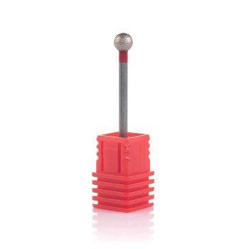 Фреза алмазна Nail Drill для обробки кутикули (Кулька), 001 050R, діаметр 5 мм (червона насічка)