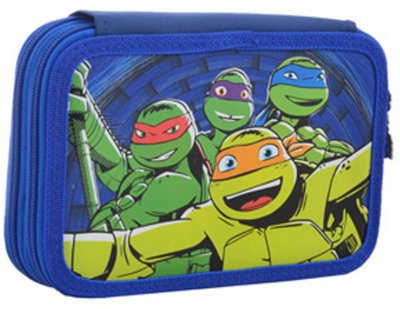 Пенал твердий 1 Вересня Turtles подвійний 20х13х4.5 (531758)