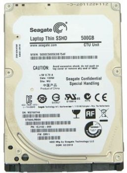 Жорсткий диск (HDD) Seagate Laptop Thin SSHD 5400rpm 64MB (ST500LM000) Ref (ST500LM000_)