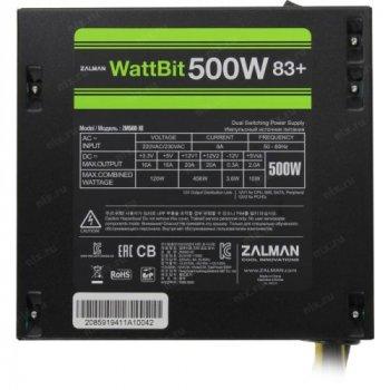Блок живлення Zalman 500W WattBit 83+ ZM500-XE