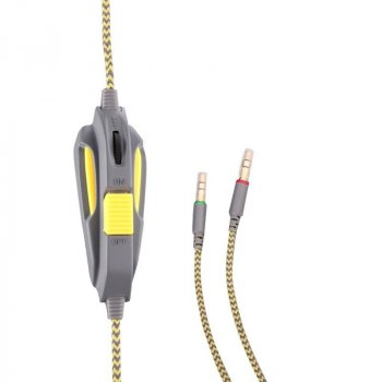 Навушники гарнітура накладні Sades SA-708 Grey/Yellow