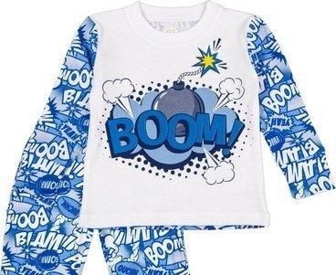 Пижама (футболка с длинными рукавами + штаны) Фламинго 246-222 Голубой
