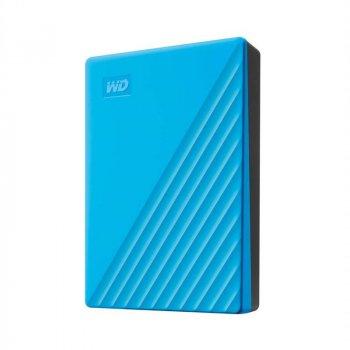 """Накопичувач зовнішній HDD 2.5"""" USB 4.0 TB WD My Passport Blue (WDBPKJ0040BBL-WESN)"""