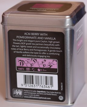 Чай черный Dilmah Exceptional ягода Асаи с гранатом и ванилью листовой 100 г (9312631763461)