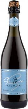 Фраголино San Mare со вкусом клубники красный сладкий 0.75 л 7.5% (8008820160654)