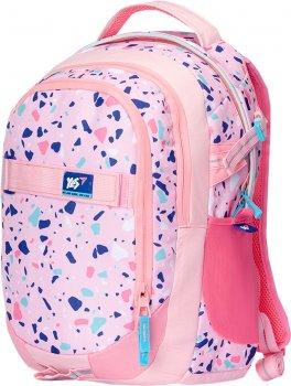 Рюкзак молодіжний YES T-59 Level Up жіночий 0.8 кг 31x47x20 см 29 л Рожевий (558350)