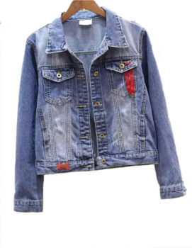 Джинсова куртка U7196 Синій (U7196)