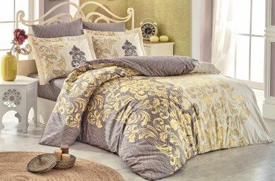 Комплект постільної білизни Hobby Flannel Mirella 200х220 Капучино (8698499140196)
