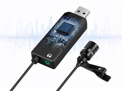 Микрофон Fifine Конденсаторный USB со звуковой картой для ПК Черный (1007-451-00)
