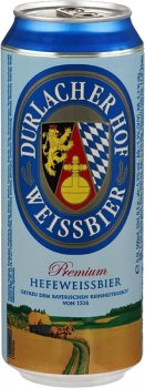 Упаковка пива Durlacher Premium Hefeweissbier світле нефільтроване 5.3% 0.5 л x 24 шт. (4054500527853)