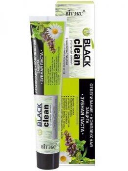 Зубна паста Відбілювання + комплексний захист Витэкс Black Clean 85 г (4810153024466)