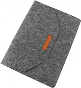 """Чохол для ноутбука Traum 13"""" з додатковим чохлом для БЖ Dark Grey (7112-45)"""