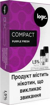 Картриджі Logic Compact Purple Fresh для POD-систем 1.5% 2 шт. (Ягідний фреш) (14619952) (4820000537599)