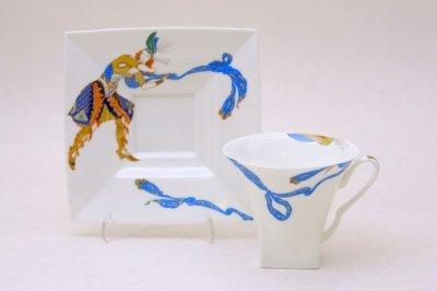Чашка с блюдцем чайная Императорский фарфор Петрополь Восток Индийский танец 220мл 81.19122.00.1