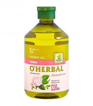 Тонизирующий гель для душа O Herbal с дамасской розой, 500 мл (5901845500043)