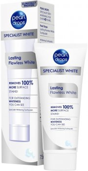 Отбеливающая зубная паста-полироль Pearl Drops Lasting Flawless White 75 мл (5010724528969)