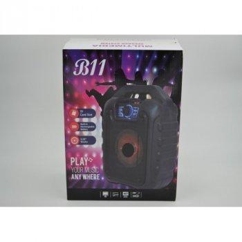 Портативна колонка Bluetooth AFG B110 Premium у вигляді міні-валізи, чорний, акустика, акустична система, музичний центр, Bluetooth ( блютус), для будинку, дачі, кафе, природи, акумуляторна