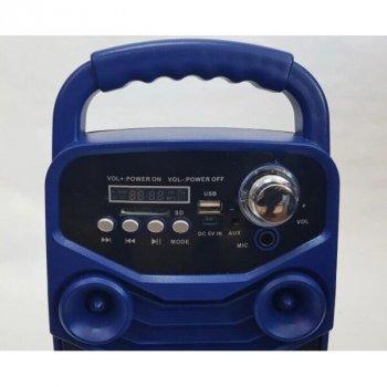 Портативна акустична система Bluetooth колонка з мікрофоном і пультом X-BASS AFG Lige 36100-DT Blue Premium, синій, чорний, акустика, акустична система, музичний центр, Bluetooth ( блютус), для будинку, дачі, кафе, природи, акумуляторна