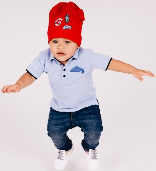 Демисезонная шапка Giamo Space Jam VINB8 52-54 см Красная (5903271512638)
