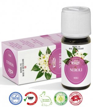 Натуральное швейцарское Эфирное масло Нероли VIVASAN Original 10 мл GMP Certified