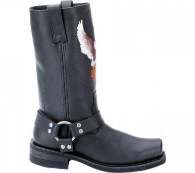 Мужские сапоги Harley-Davidson Darren Black Leather (117497)