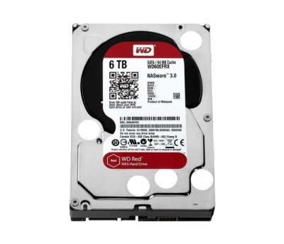 Жорсткий диск 3.5' 6Tb Western Digital Red, SATA3, 64Mb, 5400 rpm (WD60EFRX)