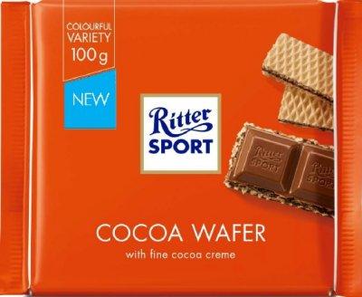 Шоколад Ritter Sport молочный с начинкой какао и вафли 100 г (4000417220004)