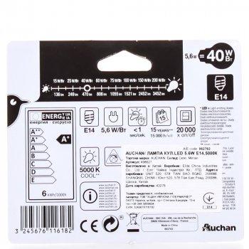 Світлодіодна Лампочка Auchan (E14; 40 Вт; 470l) Куля