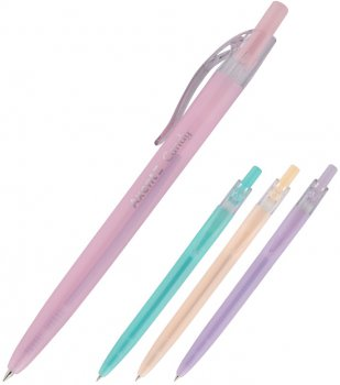 Набор ручек Axent Candy автоматических шариковых Синих 0.5 мм Корпус ассорти 12 шт (AB1084-02-A)