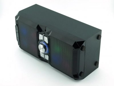 Акустична система NNS NS-1503BT з мікрофоном, світлодіодним підсвічуванням, пульт ДУ 10 Вт + функція Bluetooth Чорна (11192)
