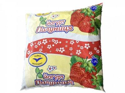 Йогурт Чайка Полуниця 1.5 % 500 г