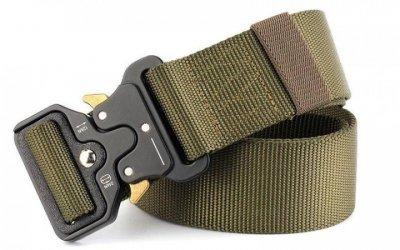 Ремінь тактичний Assault Belt з металевою пряжкою 125 см Зелений