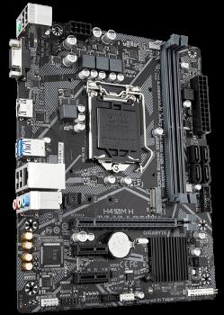 Материнская плата Gigabyte H410M H (s1200, Intel H410, PCI-Ex16)