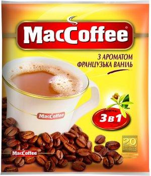 Кофе MacCoffee 3 в 1, Французская Ваниль 20 стиков (170422)