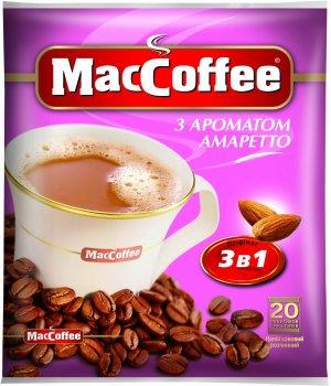 Кофе MacCoffee 3 в 1, Амаретто 20 стиков (170417)