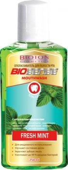 Упаковка ополаскивателя для полости рта Bioton Cosmetics Fresh mint 250 мл х 25 шт (4820026152806)